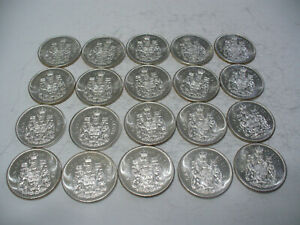 Click now to see the BUY IT NOW Price! LOT OF 20 1964  CANADA HALF DOLLAR  SILVER COINS  50 CENT PIECES    LOT B