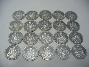 Click now to see the BUY IT NOW Price! LOT OF 20 1965  CANADA  HALF  DOLLAR  SILVER  COINS  65   50 CENT  PIECE