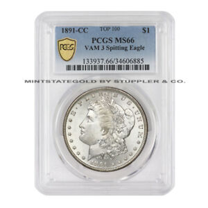 Click now to see the BUY IT NOW Price!  1891 CC $1 MORGAN SILVER DOLLAR PCGS MS66 VAM 3 SPITTING EAGLE CARSON CITY