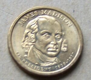 2007 P UNCIRCULATED JAMES MADISON PRESIDENTIAL DOLLAR