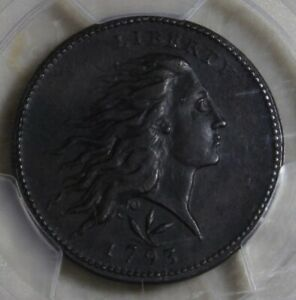 Click now to see the BUY IT NOW Price! 1793 FLOWING HAIR WREATH CENT VINE & BARS EDGE PCGS GENUINE AU DET ENV DAMAG