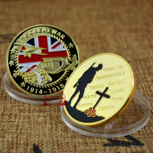 GOLD PLATED THE GREAT WAR COMMEMORATIVE COIN ART COLLECTION BUSINESS GIFT