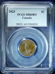 Click now to see the BUY IT NOW Price! 1925 CANADA  CENT  HIGHEST GRADE PCGS MS65 . LY  IN HIGH GRADES