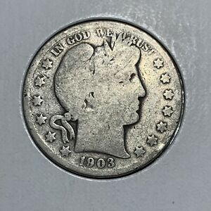 1903 S BARBER HALF DOLLAR US COIN 90  SILVER