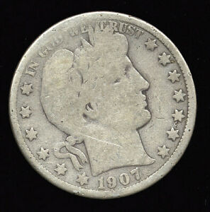 1907 O     BETTER DATE     BARBER HALF DOLLAR  307 301