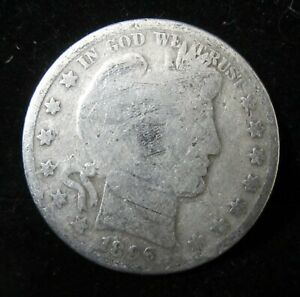 1896 P BARBER HALF DOLLAR   LOWER GRADE   ALBUM FILLER