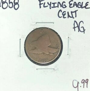 1858 FLYING EAGLE CENT  AG  NICE COIN
