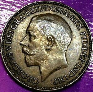 GREAT BRITAIN 1 FARTHING 1925 GEORGE V BRONZE