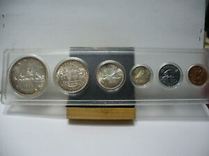 Click now to see the BUY IT NOW Price! 1953  CANADA SILVER PROOF LIKE SET  DOLLAR  1$ QUARTER DIME HALF PENNY NICKEL