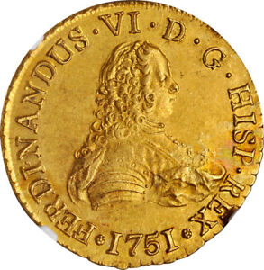 Click now to see the BUY IT NOW Price! CHILE 1751 SO J FERDINAND VI GOLD 8 ESCUDOS NGC MS 61