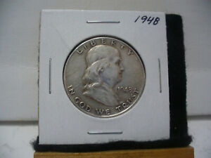 Click now to see the BUY IT NOW Price! 1948    BEN FRANKLIN   HALF  DOLLAR      50 CENT PIECE   COIN   48