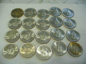 Click now to see the BUY IT NOW Price! LOT OF 20 1967  CANADA HALF DOLLAR  SILVER COINS  50 CENT PIECES