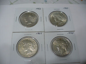 Click now to see the BUY IT NOW Price! LOT OF 4  USA ONE  1 $ DOLLAR   SILVER COINS   PIECES   90      LOT C