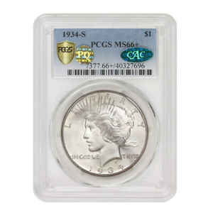 Click now to see the BUY IT NOW Price! 1934 S $1 SILVER PEACE DOLLAR PCGS MS66  KEY DATE PQ APPROVED CAC CERTIFIED