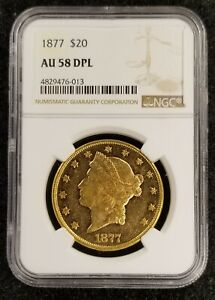 Click now to see the BUY IT NOW Price! 1877 $20 LIBERTY HEAD AU58 MS DPL 476 013 TOP POP FINEST KNOWN LOOK