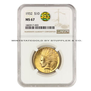 Click now to see the BUY IT NOW Price!  1932 $10 INDIAN HEAD NGC MS67 UNCIRCULATED PQ GOLD EAGLE NONE HIGHER