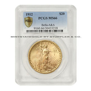 Click now to see the BUY IT NOW Price! 1912 $20 GOLD SAINT GAUDENS PCGS MS66 BELLA A&A GEM GRADED DOUBLE EAGLE RARITY