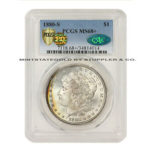 Click now to see the BUY IT NOW Price!  1880 S $1 MORGAN SILVER DOLLAR PCGS MS68  PLUS CAC CERTIFIED PQ APPROVED