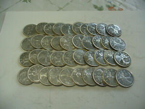 Click now to see the BUY IT NOW Price! LOT OF 40  PRE 1967    CANADA  QUARTERS   SILVER  COINS  25  CENT  PIECES