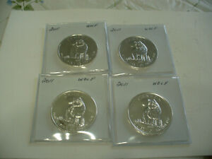 Click now to see the BUY IT NOW Price! LOT OF 4 2011  CANADA MAPLE  SILVER ONE  5 $ DOLLAR  WOLF  SILVER  COINS   LOT A