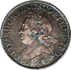 Click now to see the BUY IT NOW Price! GREAT BRITAIN 1658 CROMWELL SILVER HALF CROWN PCGS AU 53 GOLD SHIELD