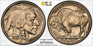 1938 D/S BUFFALO 5 CENT NICKEL.  PCGS  MS67 TRUE VIEW GOLD SHIELD