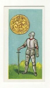 BRITISH COINS & COSTUMES CARDS 1960S.KING EDWARD IV. ANGEL
