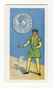 BRITISH COINS & COSTUMES CARDS 1960S.KING EDWARD VI. GROAT