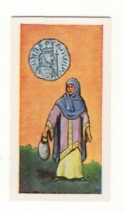 BRITISH COINS & COSTUMES CARDS 1960S.KING EDWARD THE CONFESSOR