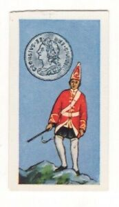 BRITISH COINS & COSTUMES CARDS 1960S.KING GEORGE II. SHILLING