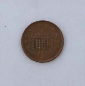 1979; NEW 1 PENNY; UK; ENGLAND; GREAT BRITAIN; CIRCULATED