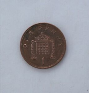 1996; ONE 1 PENNY; UK; ENGLAND; GREAT BRITAIN; CIRCULATED