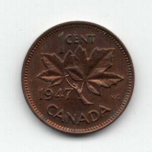 1947 CANADA ONE CENT COIN
