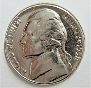 1958 JEFFERSON NICKEL   PULLED FROM OBW ROLL