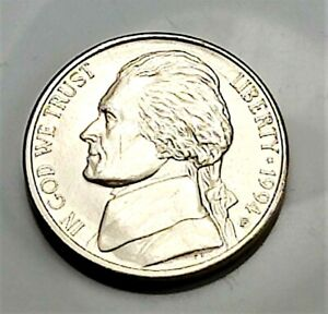 1994 P JEFFERSON NICKEL   BU COIN PULLED FROM AN OBW ROLL