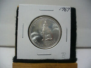 Click now to see the BUY IT NOW Price! 1967  CANADA  SILVER  HALF  DOLLAR  50 CENT PIECE   67B    GOOD GRADE