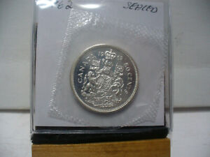 Click now to see the BUY IT NOW Price! 1962 CANADA SILVER HALF DOLLAR TOP GRADE  50 CENT PIECE  62  PROOF LIKE  SEALED
