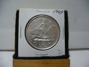 Click now to see the BUY IT NOW Price! 1949  CANADA  SILVER DOLLAR  COIN   NICE GRADE  SEE PHOTOS  49D  NICE GRADE