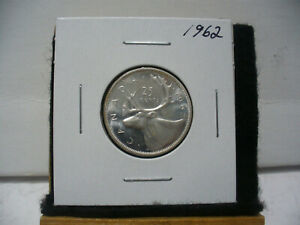 Click now to see the BUY IT NOW Price! 1962  CANADA   SILVER   QUARTER  DOLLAR  25 CENTS   NICE GRADE    62
