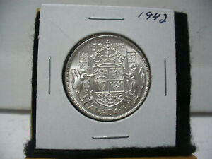 Click now to see the BUY IT NOW Price! 1942  CANADA  SILVER  HALF  DOLLAR  50 CENT PIECE   42    HIGH GRADE