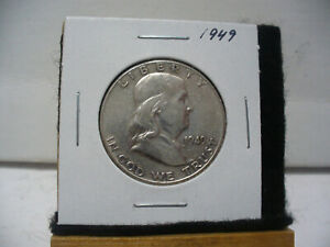 Click now to see the BUY IT NOW Price! 1949    BEN FRANKLIN   HALF  DOLLAR      50 CENT PIECE   COIN   49
