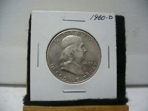 Click now to see the BUY IT NOW Price! 1960 D  BEN  FRANKLIN    HALF  DOLLAR   50 CENT PIECE   COIN   60D   NICE  GRADE