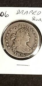 1806 DRAPED BUST QUARTER  GREAT SHAPE SEE PICTURES FOR CONDITION.