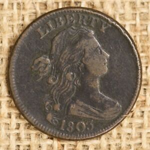 1803 1C VF DRAPED BUST LARGE CENT SMALL DATE LARGE FRACTION