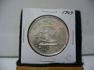 Click now to see the BUY IT NOW Price! 1949  CANADA  SILVER DOLLAR  COIN   NICE GRADE  SEE PHOTOS  49C  NICE GRADE