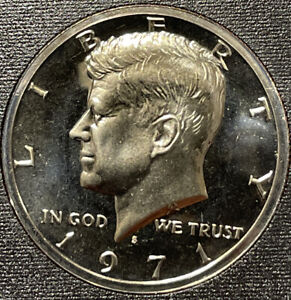1971 S KENNEDY PROOF HALF DOLLAR FROM PROOF SET WITH