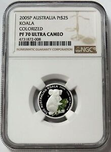Click now to see the BUY IT NOW Price! 2005 PERTH AUSTRALIA PLATINUM 200 MINTED $25 NGC PROOF 69 ULTRA CAMEO