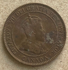 1910 CANADA ONE CENT LARGE NICE COIN LG