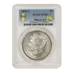Click now to see the BUY IT NOW Price! 1895 S $1 SILVER MORGAN PCGS MS66 PQ APPROVED ILLINOIS SET SAN FRANCISCO COIN