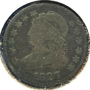 1827 10C CAPPED BUST DIME  61353